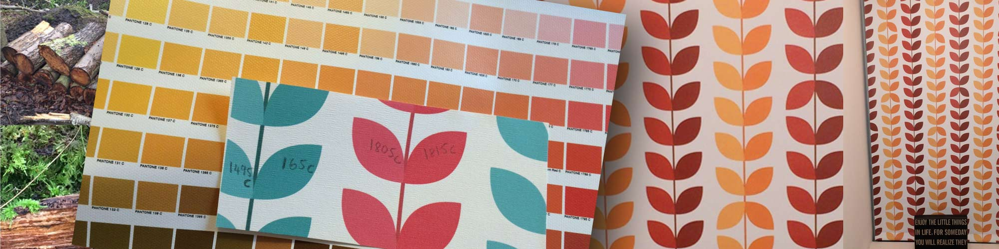Recolouring patterns for bespoke customer designs by Chorlton Blinds
