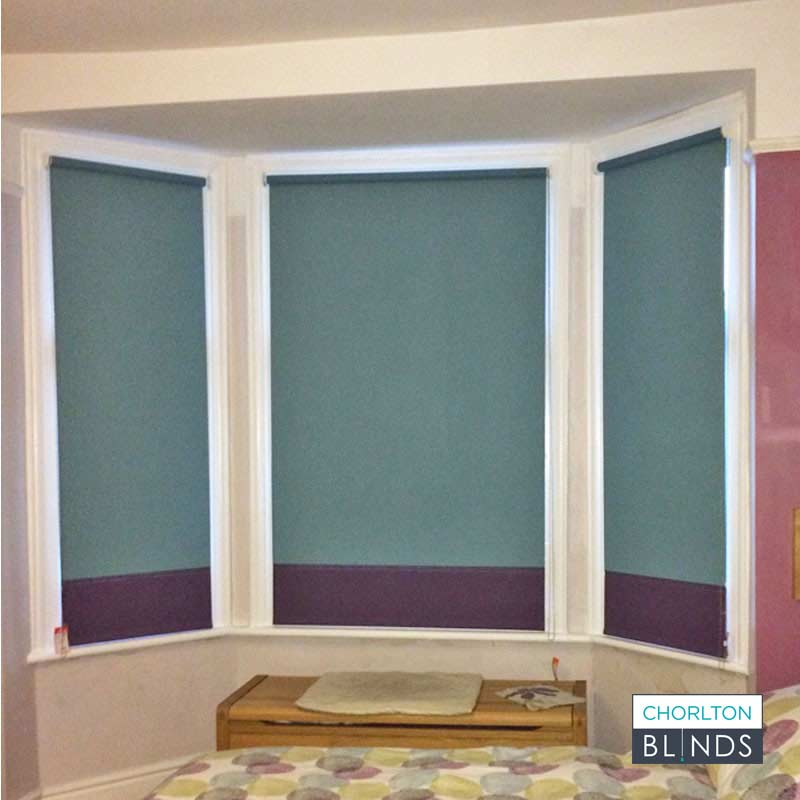Roller Blinds with Contrasting Coloured Finish