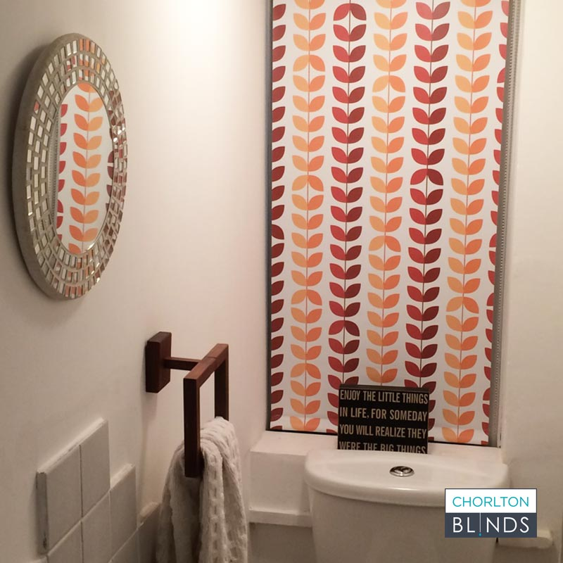 Unique Patterned Blind in Bespoke Colours for Customer