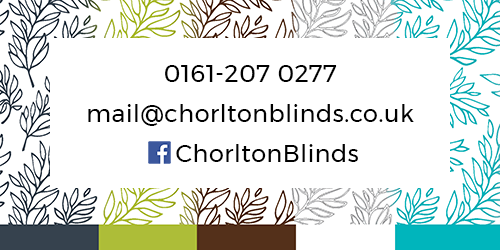 Chorlton Blinds contact details - telephone number, email address and facebook page