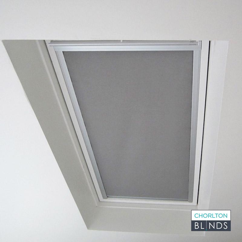 Loft Blackout Roller Blind in Grey Fabric