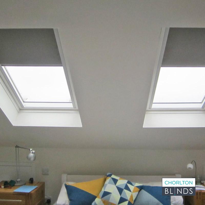 Blackout Grey Velux Loft Window Blinds