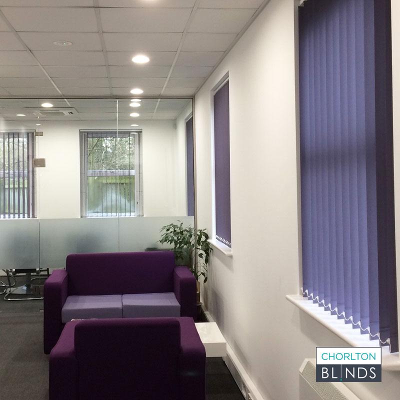Office Reception Vertical Blinds