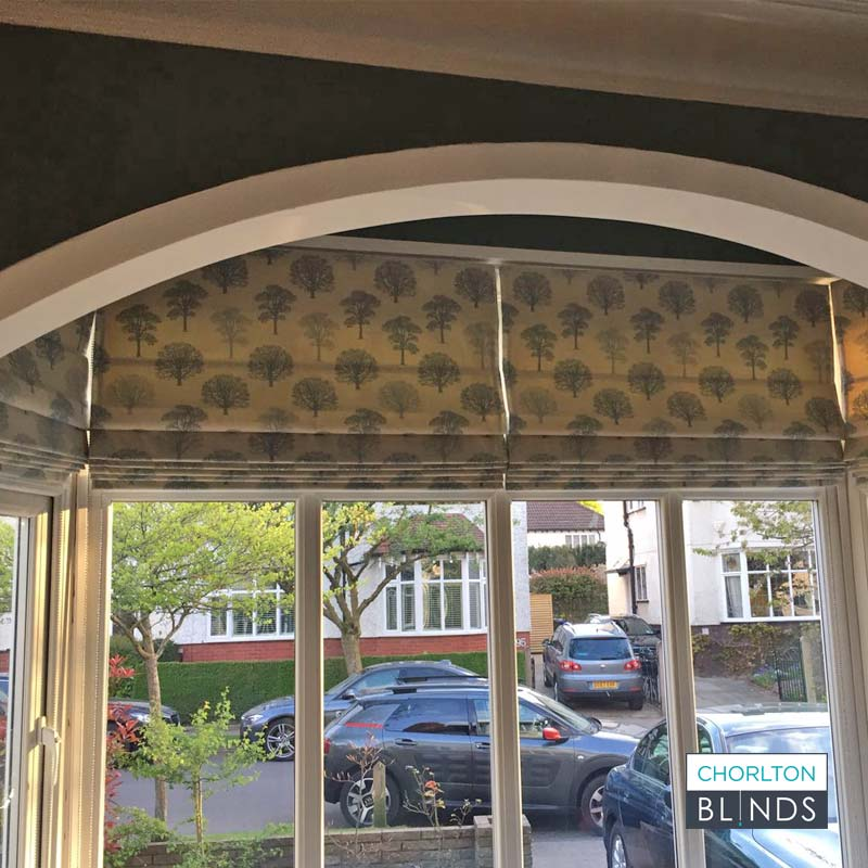 Roman Blinds in Arched Bay Window