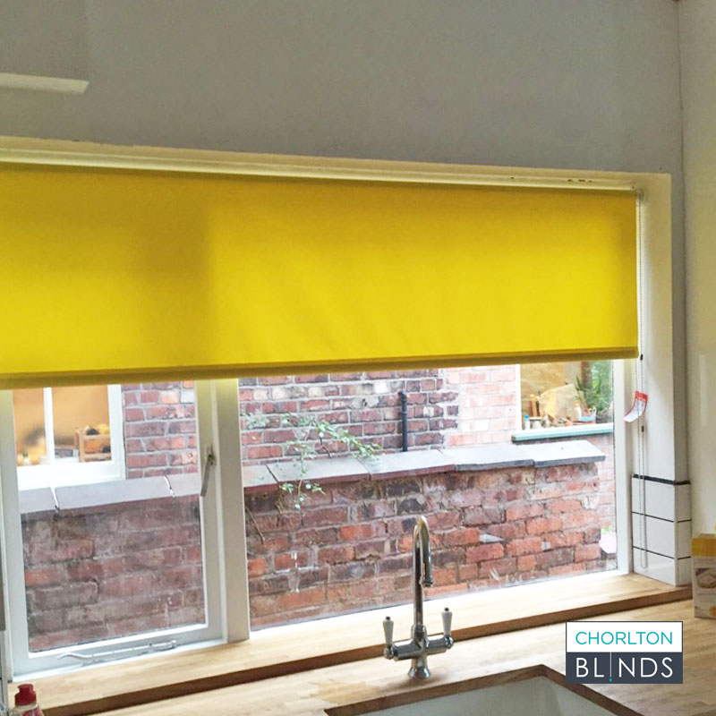 Yellow Kitchen Roller Blind