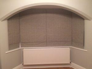 cosy bay window roman blinds