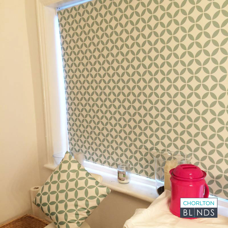 Patterned Roller Blinds with Matching Cushions