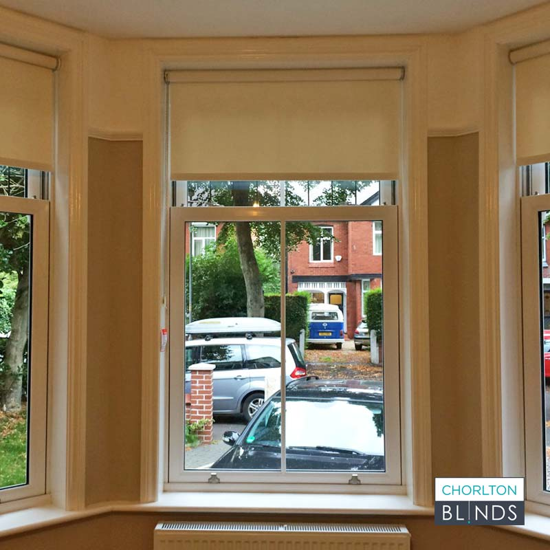 Roller Blinds in Seperate Bay Window