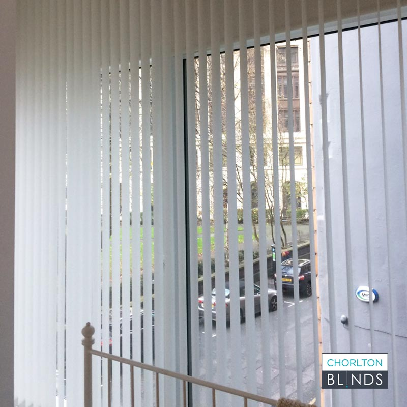 Vertical Blinds for Privacy in City Apartment
