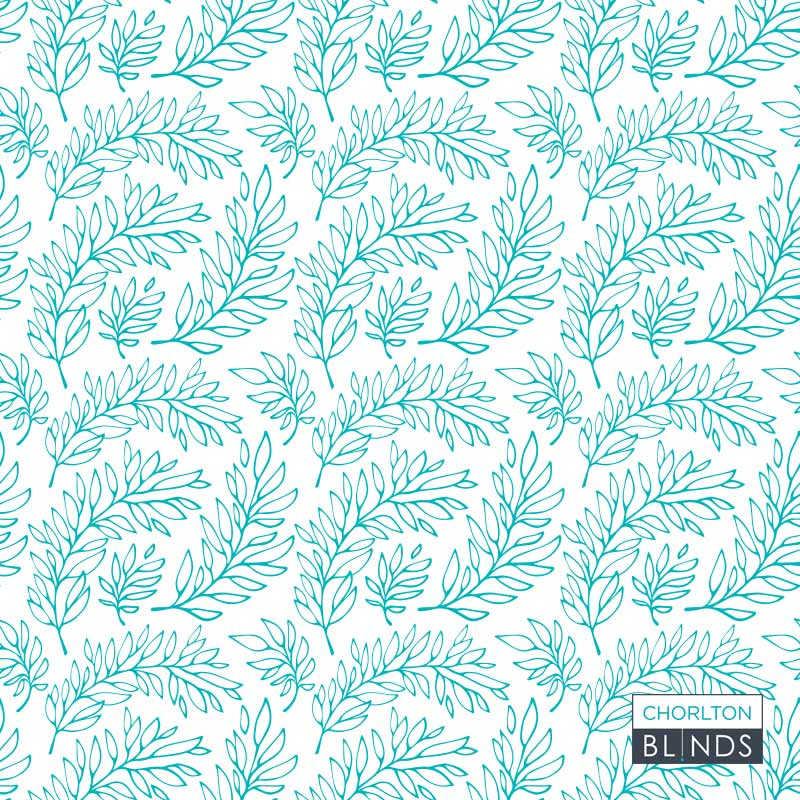 Light blue and white bespoke floral pattern