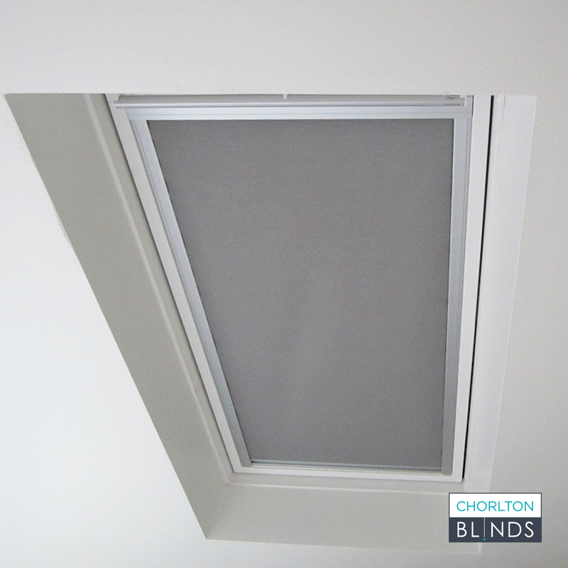 Loft Blackout Roller Blind in Grey Fabric