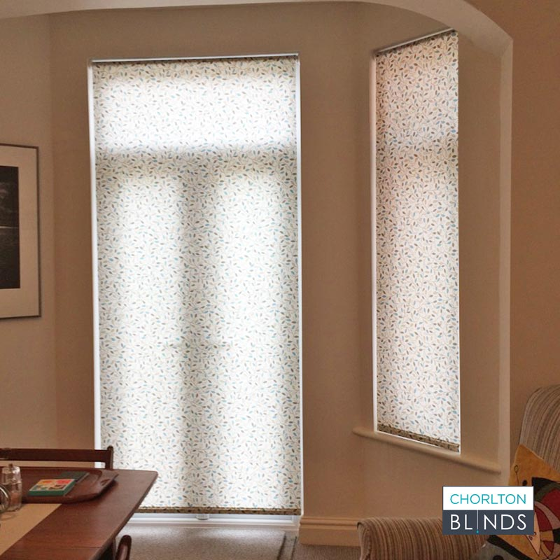 Full Length Patterned Roller Blinds