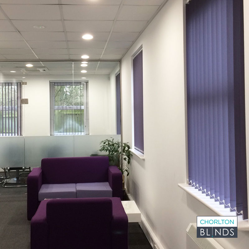 Office Reception Vertical Blinds