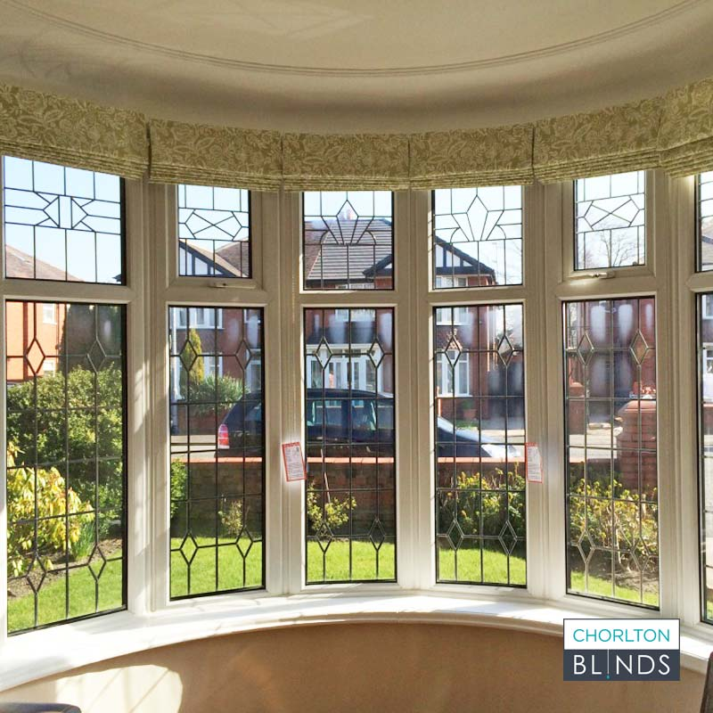 Roman Blinds on Curved Bay Window